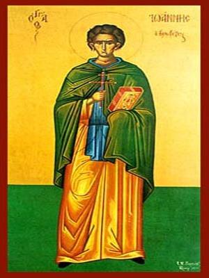 SAINT JOHN THE KALABYTES (HUT-DWELLER), FULL BODY