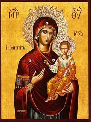 VIRGIN AND CHILD, HODEGETRIA, WITH CROWN