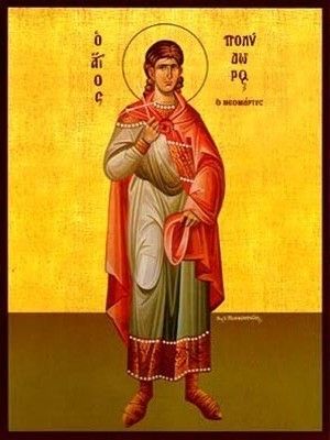 SAINT POLYDOROS OF CYPRUS, THE NEW MARTYR, AT NEW EPHESUS, FULL BODY