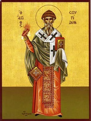 SAINT SPYRIDON, BISHOP OF TREMITHON, CYPRUS, FULL BODY