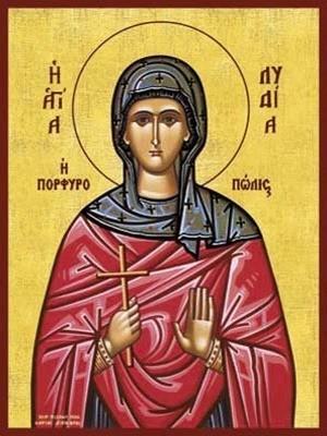 SAINT LYDIA OF PHILIPPI, THE WOMAN OF PURPLE