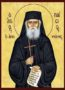 SAINT PAISIOS OF THE HOLY MOUNTAIN, WITH SCROLL AND CROSS - Icon Print on Paper, 6×9cm / 2,4×3,6in