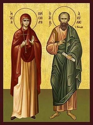 SAINTS AQUILA AND PRISCILLA, THE APOSTLES