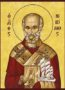 SAINT NICHOLAS, ARCHBISHOP OF MYRA IN LYCIA, WITH VESSEL - Icon Print on Paper, 20×26cm / 8×10,4in