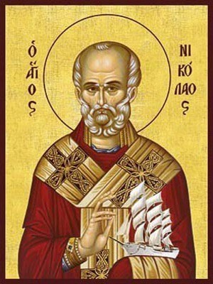 SAINT NICHOLAS, ARCHBISHOP OF MYRA IN LYCIA, WITH VESSEL
