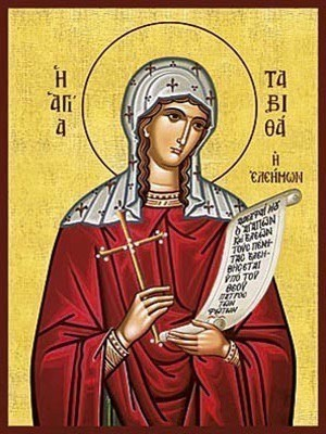 SAINT TABETHA, THE WIDOW RAISED FROM THE DEAD BY THE APOSTLE PETER