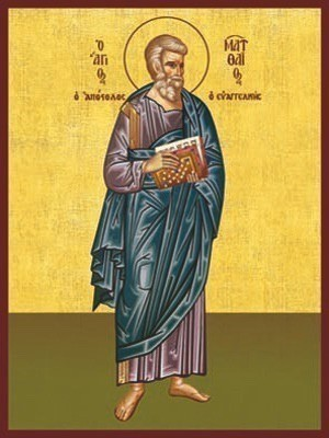 APOSTLE AND EVANGELIST SAINT MATTHEW, FULL BODY