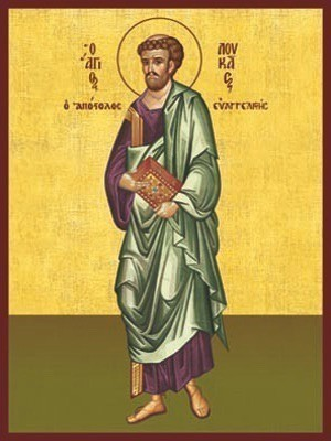 APOSTLE AND EVANGELIST SAINT LUKE, FULL BODY