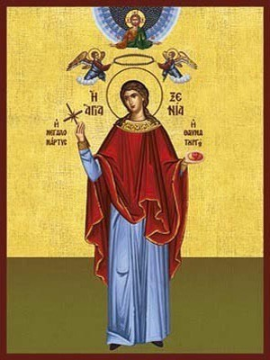 SAINT XENIA, THE GREAT MARTYR, OF PELOPONESUS, GREECE, FULL BODY