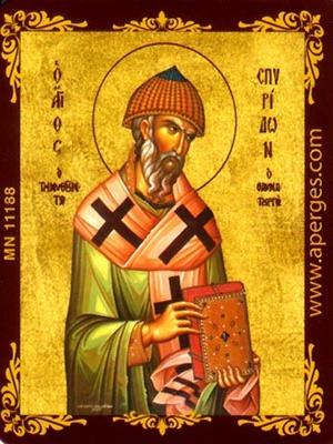 SAINT SPYRIDON, BISHOP OF TREMITHON, CYPRUS