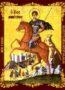 SAINT DEMETRIUS THE MYRRH-GUSHER, ON HORSEBACK - Magnet, 5×6cm / 2×2,4in