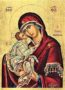 VIRGIN AND CHILD, SWEET KISSING - Silkscreen on Cotton Canvas, 30x40cm / 11,8x15,7in