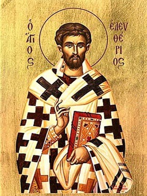 SAINT ELEUTHERIUS, HIEROMARTYR, BISHOP OF ILLYRIA