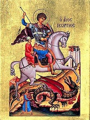 SAINT GEORGE THE GREAT MARTYR, ON HORSEBACK