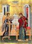 ΕΥΑΓΓΕΛΙΣΜΟΣ ΘΕΟΤΟΚΟΥ - Μεταξοτυπία σε Καμβά, 4×5εκ / 1,6×2ίντσες