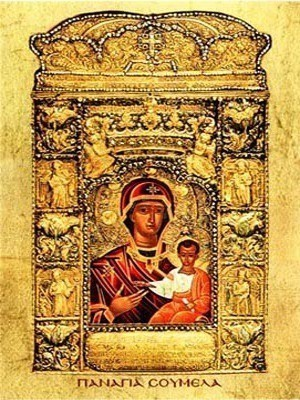 VIRGIN AND CHILD, HODEGETRIA, OF SOUMELA
