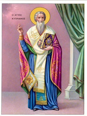 SAINT CYPRIAN, HIEROMARTYR, BISHOP OF CARTHAGO, FULL BODY