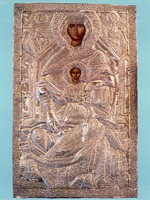 VIRGIN AND CHILD, CHRYSSOLEONTISSA, ENTHRONED