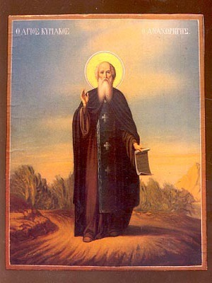 SAINT CYRIACUS THE HERMIT OF PALESTINE, FULL BODY