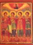THREE HOLY YOUTHS, ANANIAS, AZARIAS AND MISAEL, WITH HOLY PROPHET DANIEL, FULL BODY