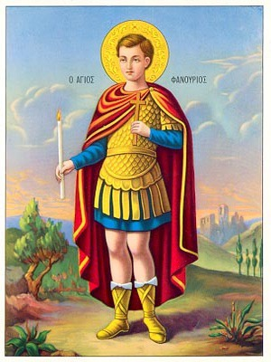 SAINT PHANURIUS THE GREAT MARTYR, FULL BODY