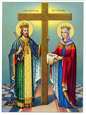 SAINTS CONSTANTINE AND HELEN, FULL BODY-1184