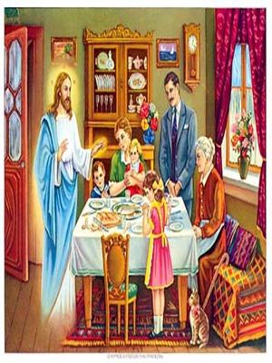 CHRIST BLESSING THE FAMILY