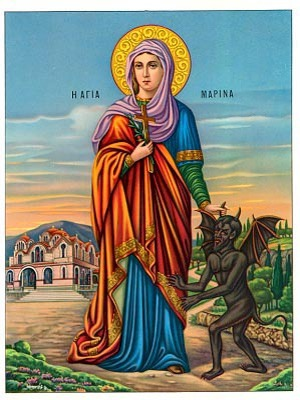 SAINT MARINA, THE GREAT MARTYR, OF ANTIOCH, FULL BODY