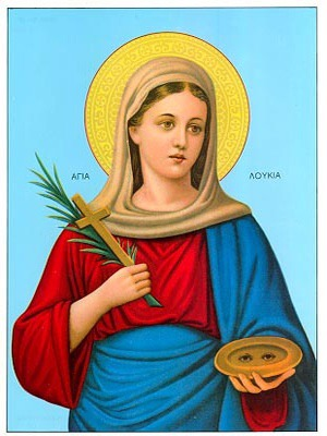 SAINT LUCY, VIRGIN-MARTYR