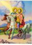 SAINTS THEODORES TYRO AND STRATELATES THE GREAT MARTYRS, ON HORSEBACK