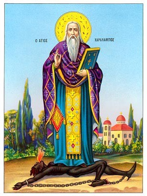 SAINT CHARALAMPUS, HIEROMARTYR, BISHOP OF MAGNESIA, GREECE, FULL BODY