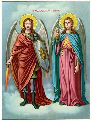 ARCHANGELS MICHAEL AND GABRIEL, FULL BODY