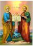 HOLY APOSTLES PETER AND PAUL, FULL BODY - Icon Print on Paper, 30x40cm / 11,8x15,7in