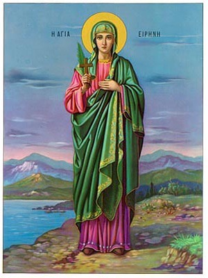 SAINT IRENE, THE GREAT MARTYR, FULL BODY