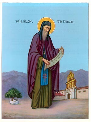 SAINT GERASIMUS, THE NEW ASCETIC OF CEPHALONIA, GREECE, FULL BODY-1116