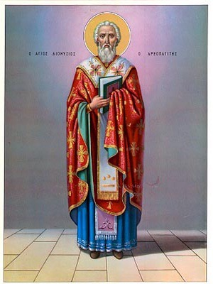 SAINT DIONYSIUS, HIEROMARTYR, THE AREOPAGITE OF ATHENS, GREECE, FULL BODY