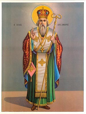 SAINT ALEXANDER, PATRIARCH OF CONSTANTINOPLE, FULL BODY