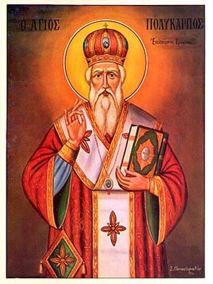 SAINT POLYCARP, BISHOP OF SMYRNA