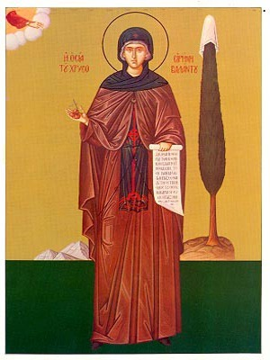 SAINT IRENE CHRYSOVALANTOU, FULL BODY