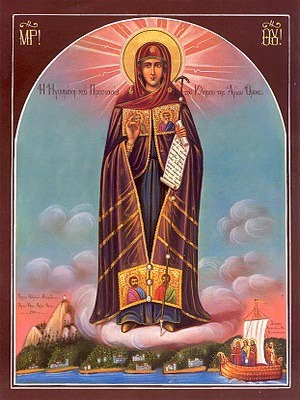 VIRGIN, ABBESS OF MOUNT ATHOS, FULL BODY