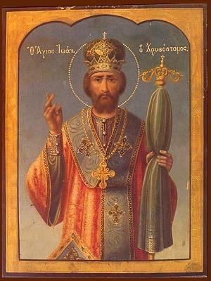 SAINT JOHN THE CHRYSOSTOM, PATRIARCH OF CONSTANTINOPLE