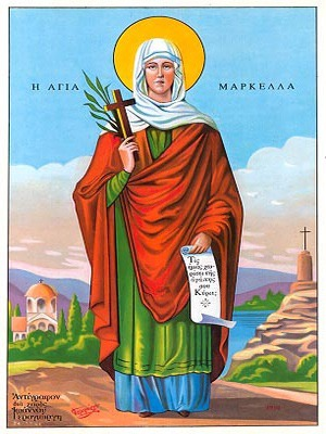 SAINT MARCELLA, MARTYR, OF CHIOS, GREECE, FULL BODY