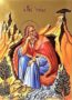 HOLY PROPHET ELIAS IN CAVE, FULL BODY - Gilded Print on Paper, 4x5cm / 1,6x2in