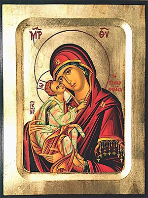 WOODEN ICON CARVED WITH GILDING