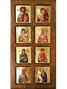 Wooden Icon 3-Dimensional with Multiple Silkscreen Images