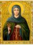 SAINT PHILOTHEA, NUN-MARTYR, OF ATHENS, GREECE - Icon Print on Paper, 4x5cm / 1,6x2in
